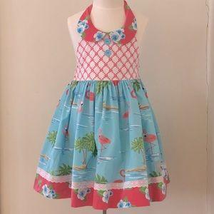 Eleanor Rose Girls Dress 🦩🌺🌴